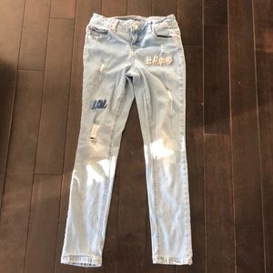 Justice simply low jegging size 10